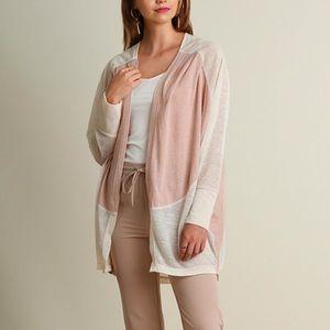 Umgee Lightweight Open Cardigan Sweater Mauve
